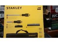 Stanley 48 piece Screwdriver +Socket Set- New/Sealed