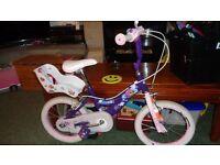 Girls bike 50cm floor to lowest saddle setting