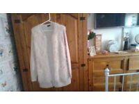 ladies cream eyelash cardigan size 12