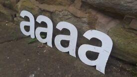 "Vintage Retro Reclaimed Salvage Shop Letters Pub Sign Industrial A a Letter ""A"""