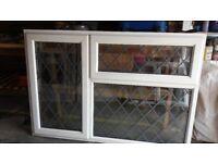 "LEADED LIGHT UPVC USED DOUBLE GLAZED WINDOW 60.25"" X 41"""