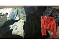 A bundle of girl's clothes for 8-9yrs old girl in a very good condition
