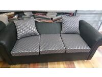 sofa for sale, 3 sitter and 2 sitter available now in our store in white chapel. The colour is grey.
