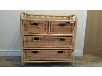 Cane / wicker chest of drawers
