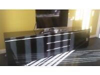 Black gloss ikea TV unit