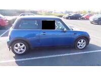 bmw mini one blue 55 plate recent service ready to go