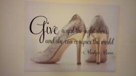 Marilyn Monroe Shoes Quote Canvas