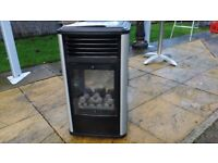 Manhattan portable real flame gas fire . With instructions , gas bottle (empty) Safety features