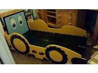 JCB Tractor toddler kids boys bed