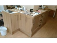 A selection of kitchen cupboard
