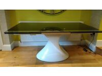 FREE Contemporary Italian design glass top dining table. FREE