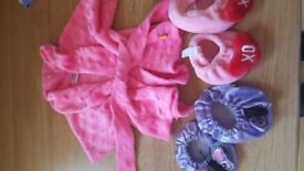 Build a bear dressing gown and slippers