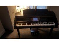 Yamaha clavinova in dark rosewood , full size