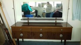 Original 60's Dressing Table & Chest of Drawers