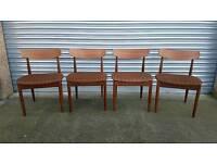 Nice set of 4 retro mid-century teak Danish style G-Plan chairs
