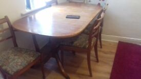 Nice table with 6 chairs