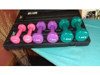 Weights set in carry box