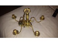 Brass ceiling lights x2 Matching Pair. Great Condition & Fully Working