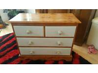 Pine chest of drawers. Farmhouse style