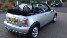 MINI COOPER CONVERTIBLE. 54 PLATE. LADY DOCTOR OWNED.
