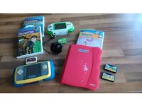 v tech storio and mobigo ,plus games plus leapfrog explorer bundle