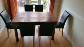 Character table and six (6) chairs: