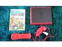 Wii mini console + accessories + game