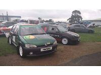 Peugeot 106 MSA Spec Rally car