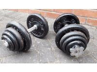 40KG YORK WEIGHTS CAST IRON DUMBBELL SET