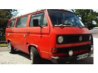 VW T25 early 1981 Pop Top Camper w/drive away awning *NEW REBUILT ENGINE and LOTS OF WELDING DONE*
