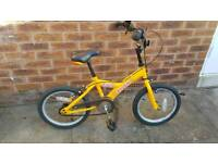 Child's Trax bicycle.