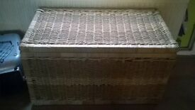 wickerwork chest, good condition, dimensions 500mm x 915 x 500 high .