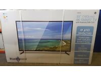 BRAND NEW SEALED BLUE DIAMOND 55 inch 140CM 4K SMART TV WITH ANDRIOD DVB-T2/C CHEAPEST IN UK £395