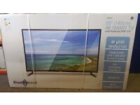 BRAND NEW SEALED BLUE DIAMOND 55 inch 140CM 4K SMART TV WITH ANDRIOD DVB-T2/C CHEAPEST IN UK £450
