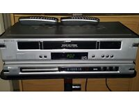 Philips VCR and DVD player