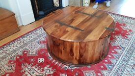Coffee table or blanket box, Indian rose wood, good condition great for storage.