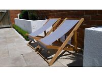 BRAND NEW twin deck chairs - ideal for kids!
