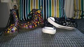 Girls Dr Martens Size 10 And Converse Size 11