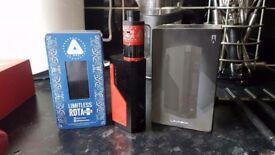 Lavabox dna 200 watts vape box mod limitless rdta dripper tank