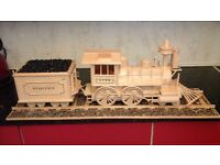 AMERICAN STEAM TRAIN MODEL WITH TENDER