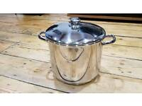 Deep Stainless Steel Stock Casserole Soup Stew Pot