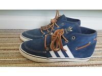 Adidas Size 7 mens Hi top Deck / Boat shoe Limited edition blue suede/brown leather laces £25ono
