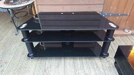 Black gloss 3 tier entertainment unit stand