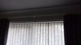 White wood .Curtain pole