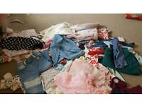 huge pile 9-12 months girls clothes bundle some bnwt