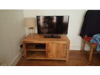 Natural Solid Wood TV Cabinet (Oak Furniture Land)