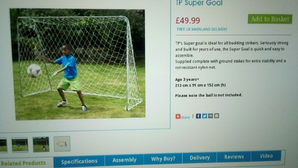 FOOTBALL GOAL AND NETin Basildon, EssexGumtree - FOOTBALL GOAL AND NET BRAND NEW IN BOX COST ME £50 LOOKING £25 NO OFFERS. GREAT FOR SUMMER FOR KIDS. GRAB A BARGAIN. COLLECTION FROM BASILDON