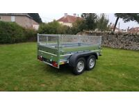 New trailer 8.2 x 4.2 twin axle-build with mesh and braked 2700kg £ 1700 inc vat