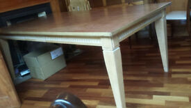 Very large, solid ash extendable dining table - superbly well made and built to last