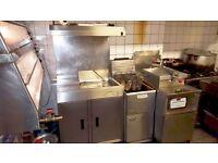 Genuine Henny Penny Brand: HCW5 Chicken Display, Fryer, Breading Table & Chips Dump/Fryer (SW9)